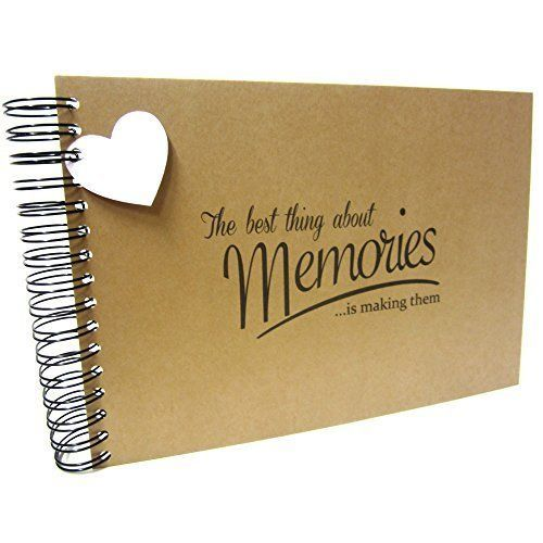 Our Story So Far Anniversary love heart memory book, scrapbook, photo album, blank book, recycled kraft board covers, 20 card pages/40 blank sides for photos, boyfriend or girlfriend gift