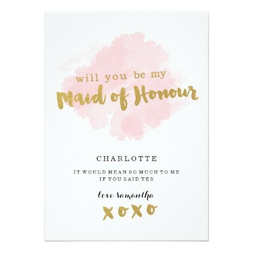 245 best be my maid of honor cards images on pinterest bridal gold and blush will you be my maid of honor card pronofoot35fo Image collections