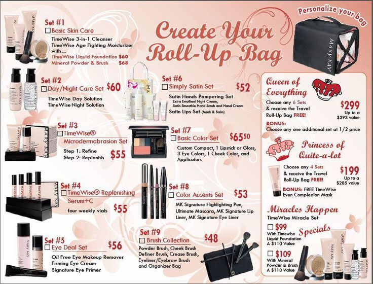 Create your own rollup bag! Mary Kay Pinterest Bags