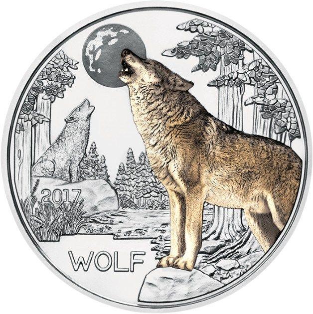 Serie Monedas Criaturas Coloridas – El Lobo