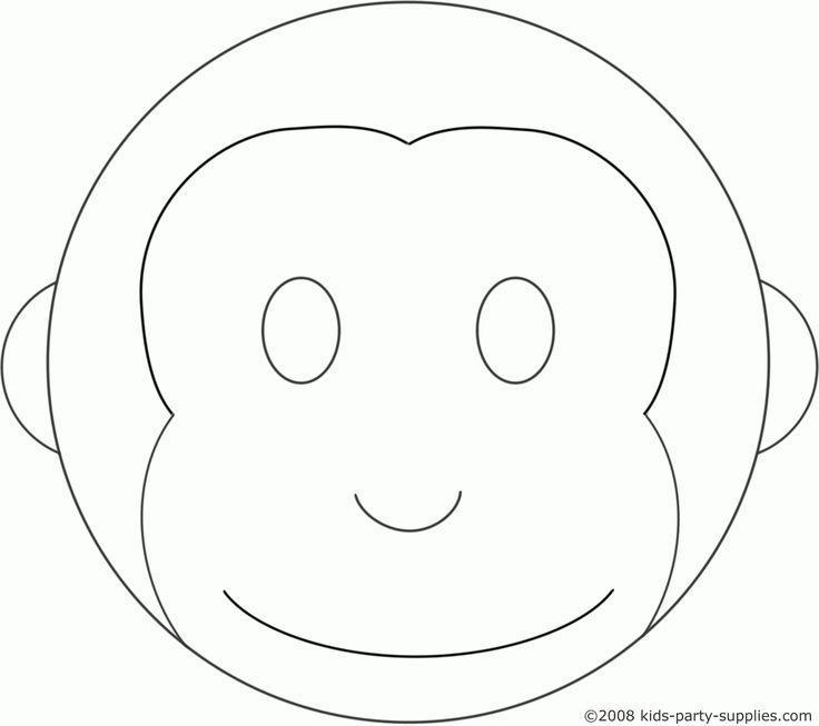 monkey face template for cake - monkey cake 1 600 1 420 pixels craft ideas