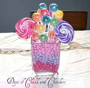 Love this idea for a birthday party centerpiece!
