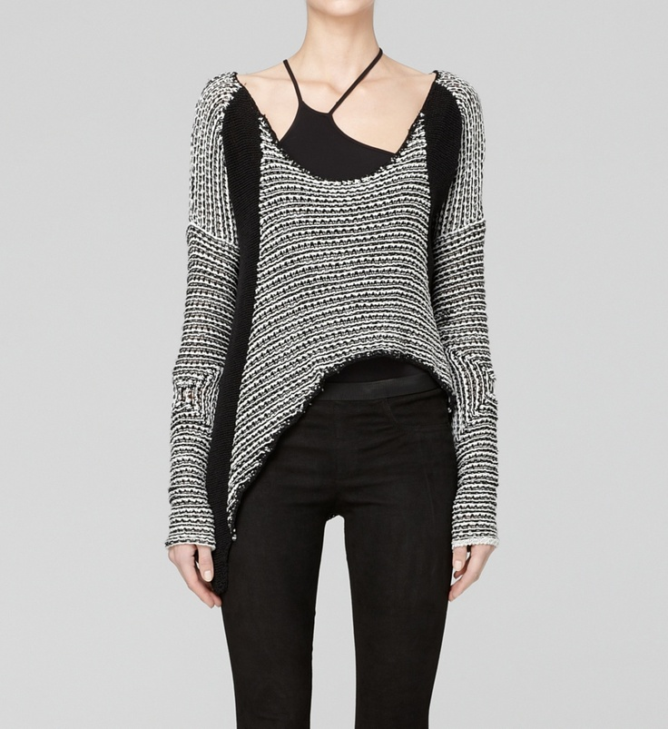 helmut lang.Crop Sweaters, Lang Lumineers, Lumineers Cords, Helmutlang, Cords Crop, Lang Sweaters, Asymmetrical Details, Langthat Sweatets, Helmut Langthat