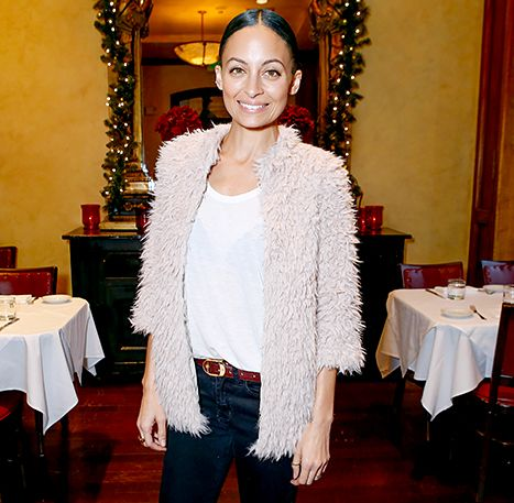 Nicole Richie Wears 6-Year-Old Daughter Harlow's Shag Coat - love it!