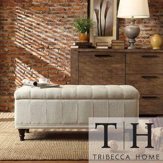 TRIBECCA HOME Tufted Storage Bench