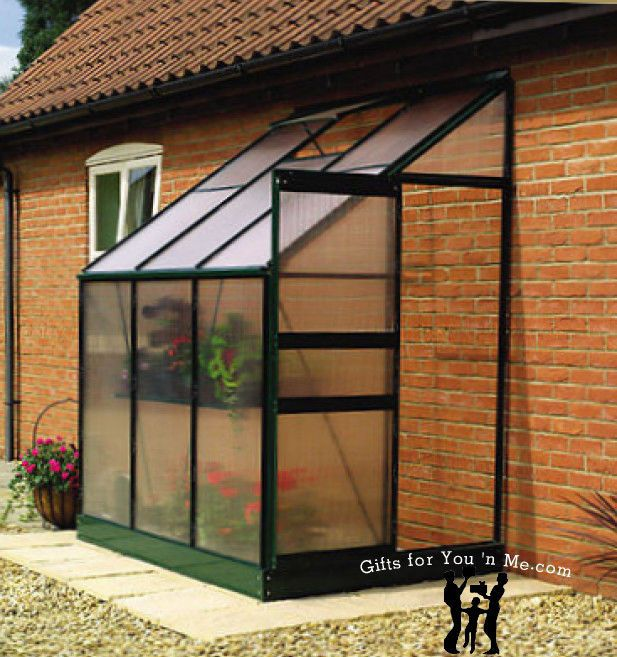 Ogrow Aluminium Lean To Greenhouse 25 Sq Ft With Sliding Door And Roof Vent Lean To Greenhouse Greenhouse Plans Greenhouse