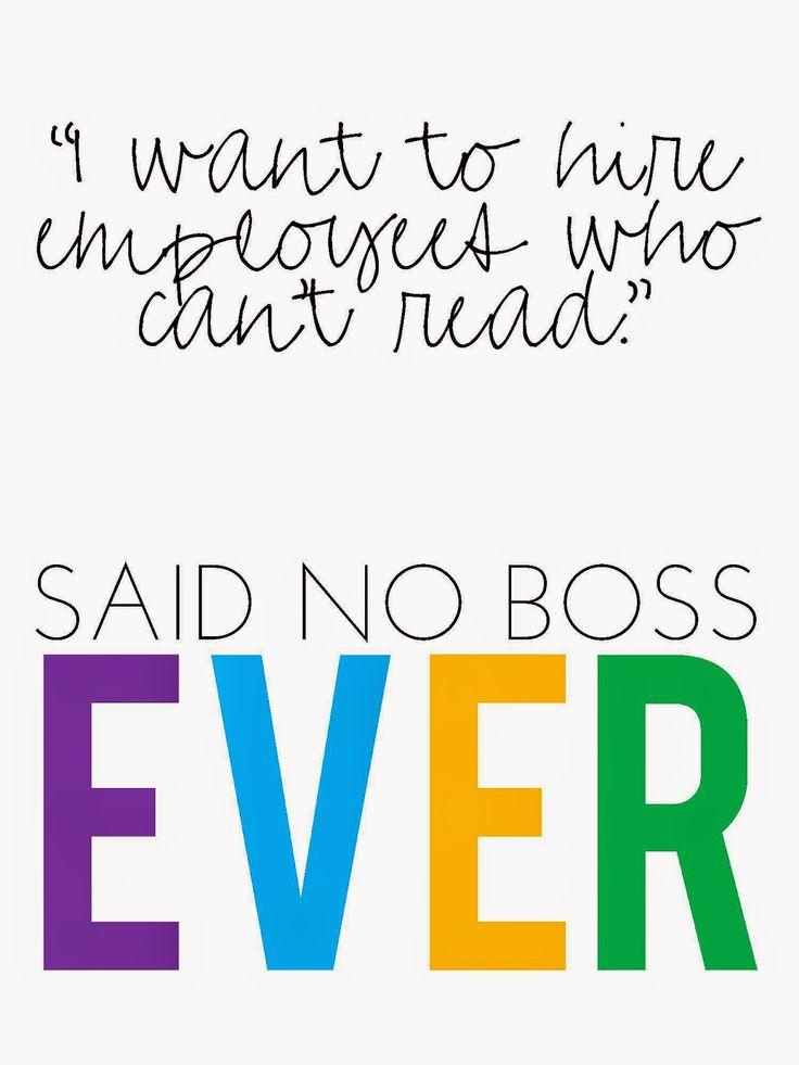 006 Said No Boss EVER Class management Pinterest Boss
