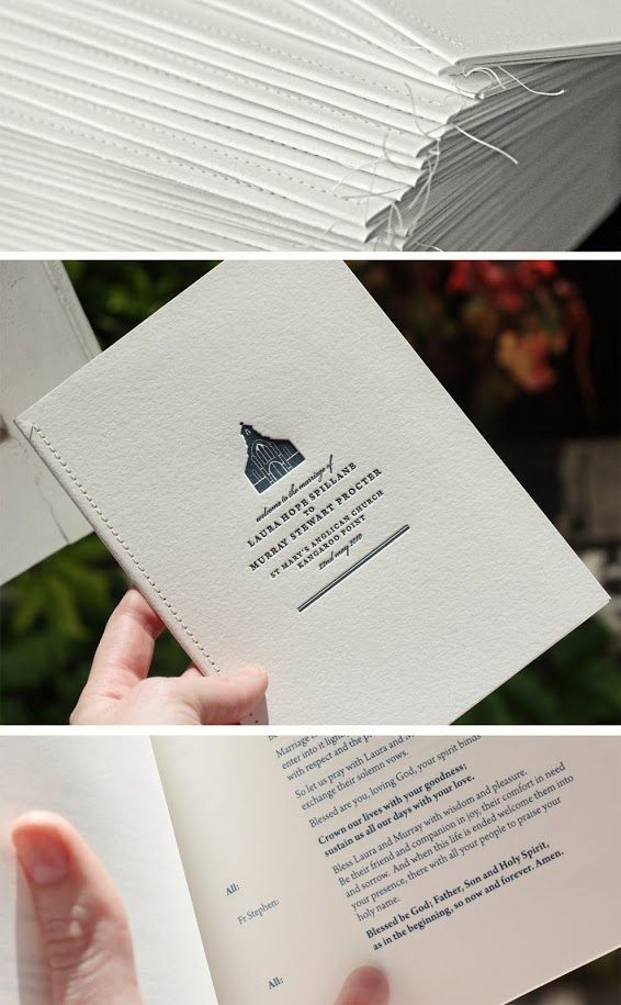 <3 Wedding Inspiration [stitched binding]