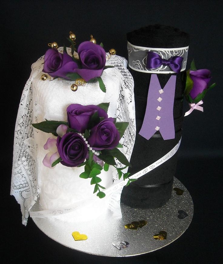 Wedding Towel Cake | Nappy Cakes By K - Wedding/Birthday Cake Gallery