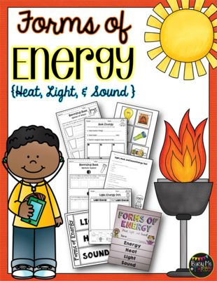 Forms of Energy Set with Heat, Light, and Sound {Grades 1, 2, & 3}