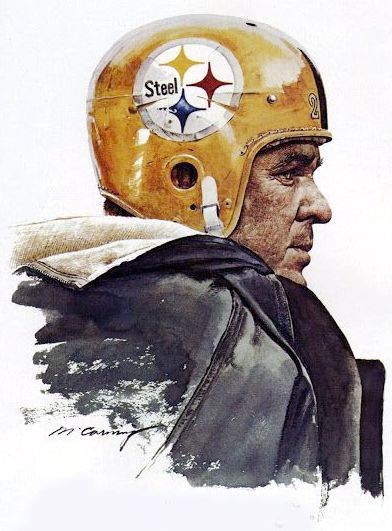 Bobby Layne, Pittsburg Steelers by Merv Corning