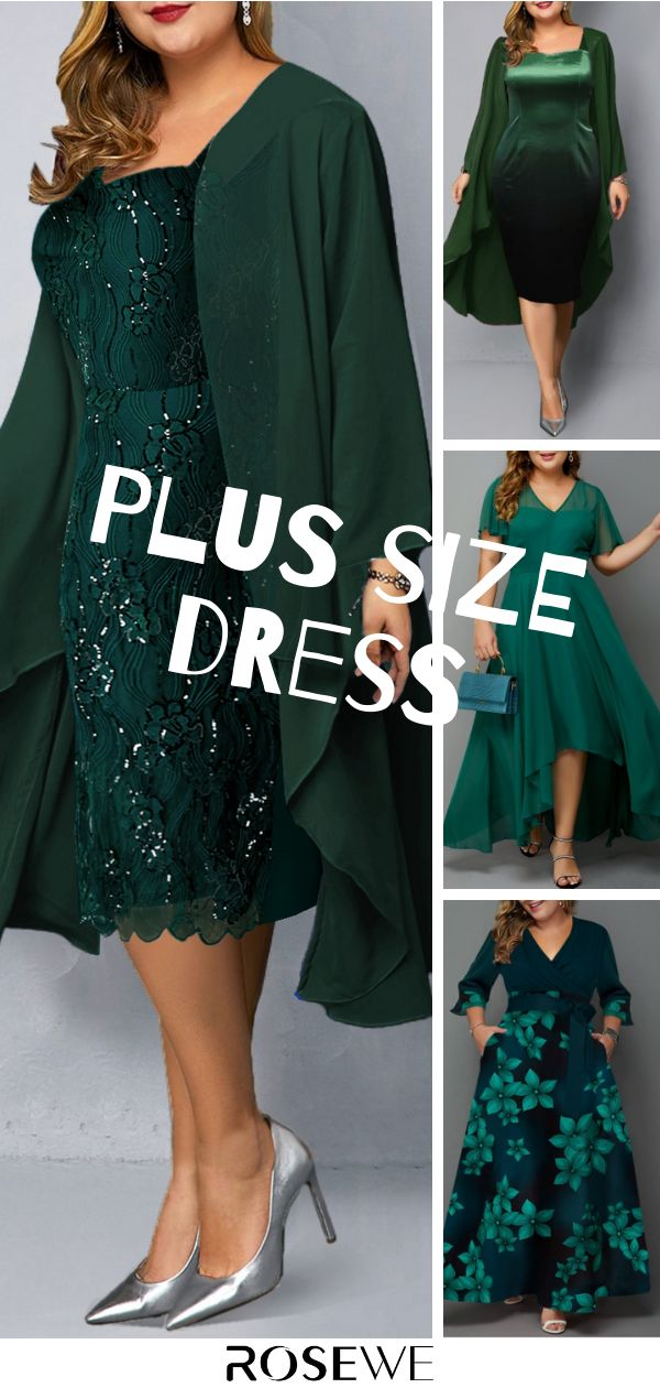 Plus Size And Chiffon Cardigan Sequin Embellished Dress