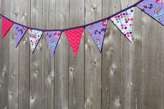 My Little Pony Bunting Banner My Little Pony Birthday by RuntCakes