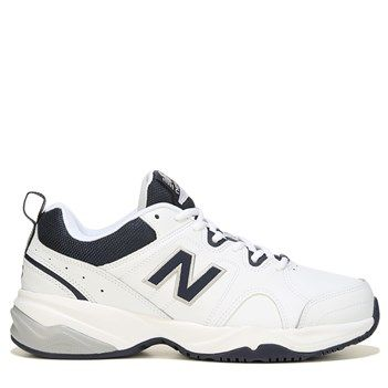 New Balance Men's 609 V3 Memory Sole Wide Sneakers (White/Navy)