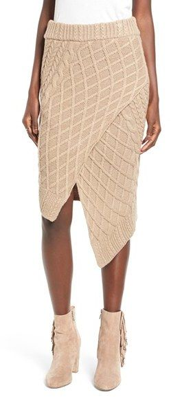 Finders Keepers the Label Odom Cable Knit Skirt