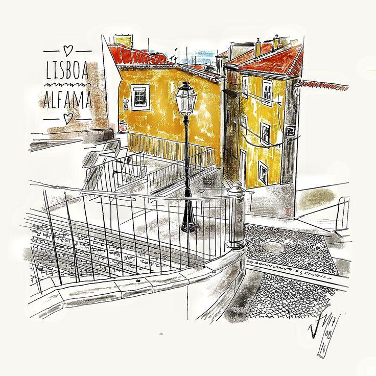 Victor Melo ~ Sketch ~ Alfama ~ Lisbon