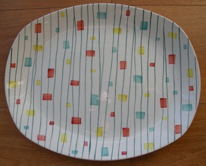Midwinter MAGIC MOMENTS oval platter Jessie Tait 1950s