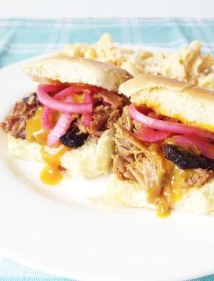 Southern Sandwiches - The Ultimate Comfort Food: Pulled Pork Sandwiches with Pickled Red Onions and Mustardy BBQ