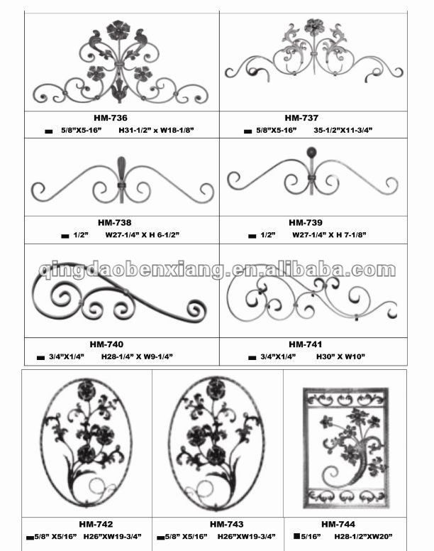 bx puerta de hierro forjado adornos-Vallas, Enrejados y Puertas-Identificación del producto:313821340-spanish.alibaba.com
