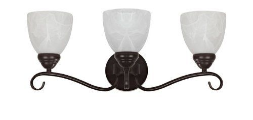 Chloe Lighting CH0191-ORB-BL3 Transitional 3-Light Oil Rubbed Bronze Bath Vanity Wall Fixture with 21.5-Inch Wide Alabaster Glass by Chloe Lighting. $75.56. The Harmonic Symphony will whisk the imagination to a melodic time providing a musically inspired theme. This piece is perfect for receiving and entertaining purposes, and will bring a feel of high class and dazzle into your room.. Save 40% Off!