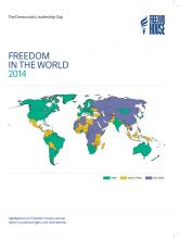 """Freedom House's """"Freedom in the World"""" report for 2014.  Includes sections on """"Freedom on the Net"""" and press freedom.  Good browsing."""