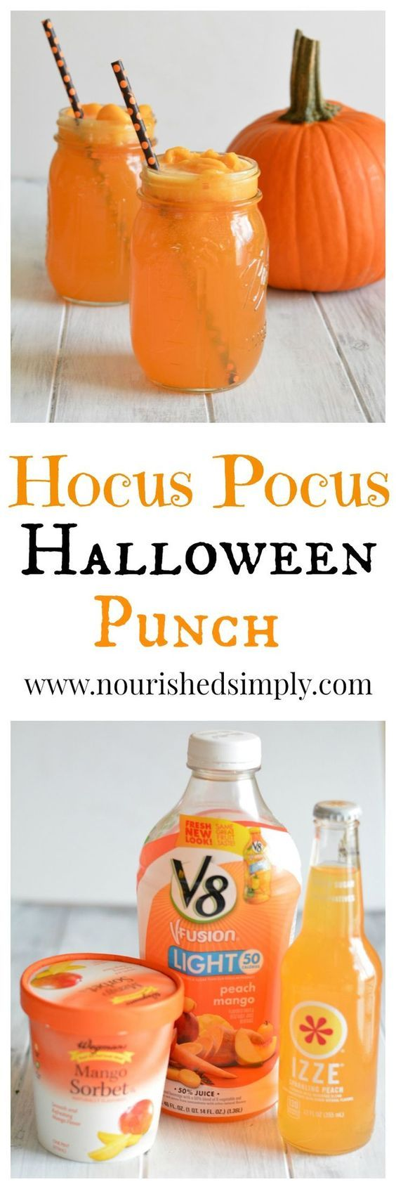 Hocus Pocus Halloween Punch | fun and easy party drink idea for fall or Halloween. All natural ingredients without food coloring.