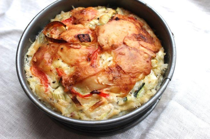 Hüttenkäse quiche (eiwitrijk!)