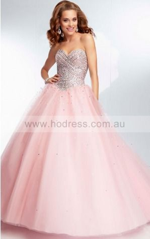 Sleeveless Sweetheart Lace-up Tulle Floor-length Formal Dresses zyh169--Hodress