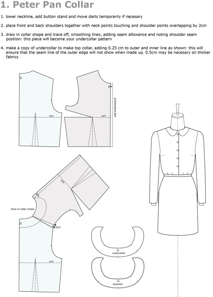 Further pattern cutting cutting tutorials can be found on this blog: Raglan Sleeve Adaption Eton Collar Mandarin and Polo Collar Collar with Low Neckline Exercise in Stripes Teaching Resource from ...