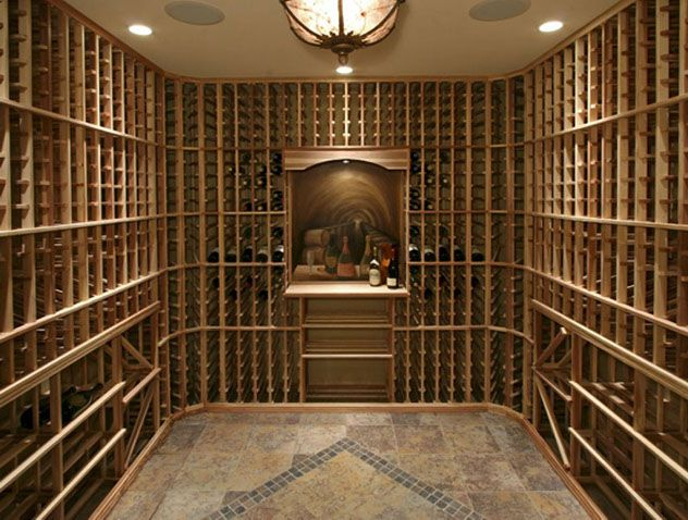 How about a this wine room for a Basement?  | www.HomeChannelTV.com #wineroom