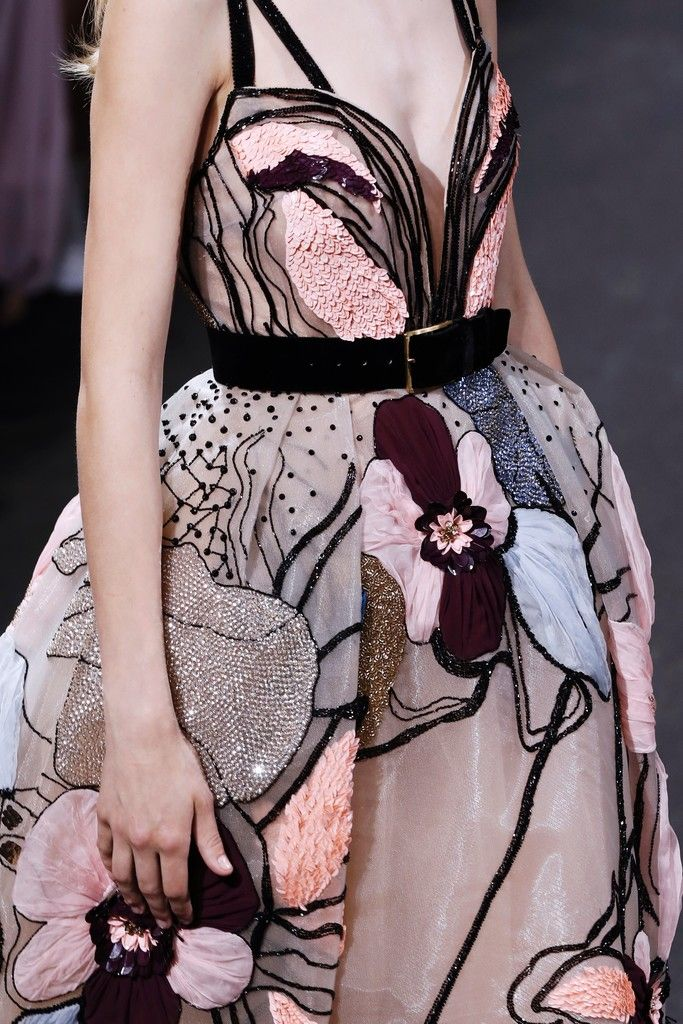 A model presents a creation by Elie Saab during the 2016-2017 fall/winter Haute …