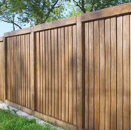 This board-on-board concrete fence by Superior Concrete Products will never rot or become termite fodder—its posts and tongue-and-groove boards are made of reinforced cast concrete. Suitable for all climates, it's strong enough to withstand winds of up to 160 mph. About $125 per linear foot for a 6-foot-tall fence; Superior Concrete Products