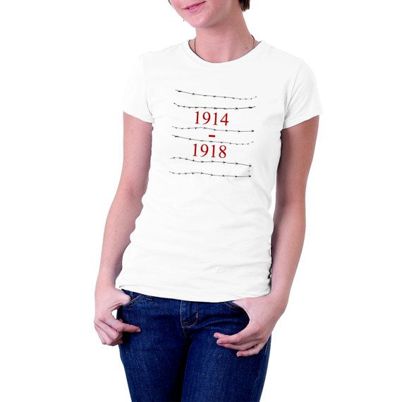 Lest we forget the 'Great' #War of 1914 to 1918. A two-colour print slowing 1914-1918 between the barbed wire. Top Quality Vinyl print on 185 gsm Gildan , Regular Cut Premiu... #t-shirt #war #wwi #conflict #history #politics #army #europe #britain #france #germany #usa