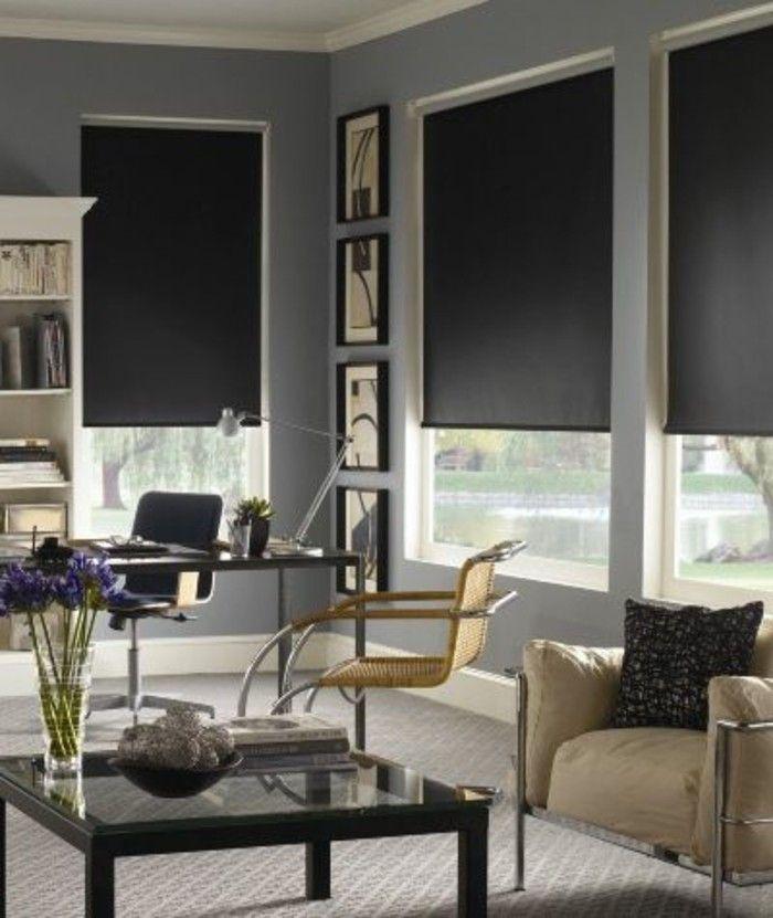 moquette gris blanc pour le salon, store occultant velux pour le salon moderne