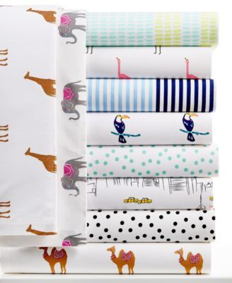 Aqua dot sheet set - Martha Stewart Whim Collection Novelty Print 200 Thread Count Percale Sheet Sets, Only at Macy's