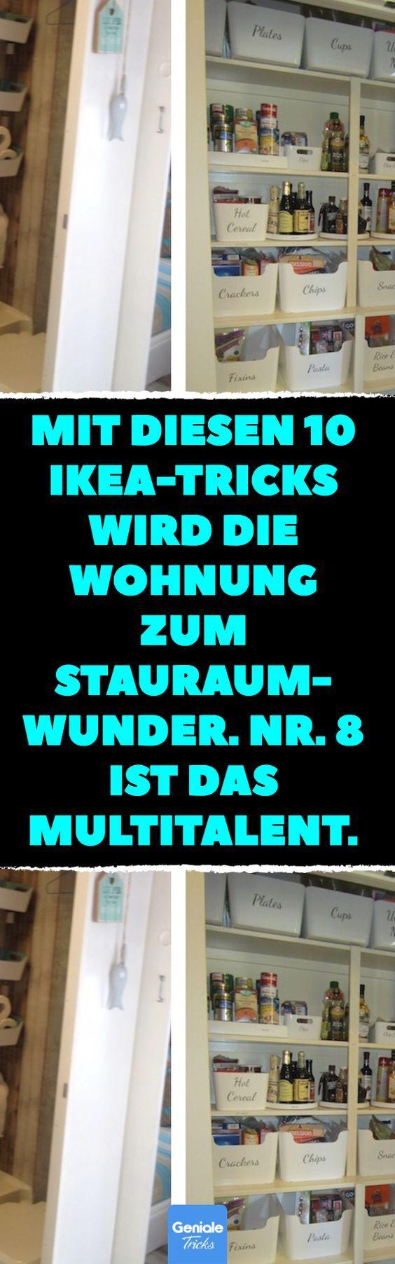 Mit diesen 10 Ikea-Tricks wird die Wohnung zum Stauraum-Wunder. Nr. 8 ist das Multitalent. Wohnung einrichten mit IKEA-Boxen. #wohnung #einrichten #ikea #stauraum