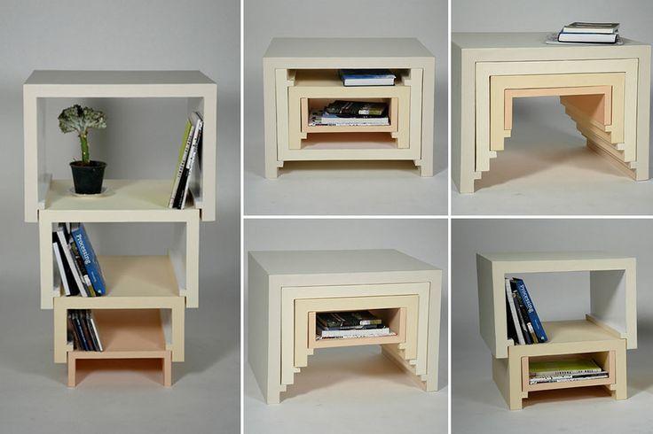 Стол-шкаф-матрешка Stacking Nesting Table
