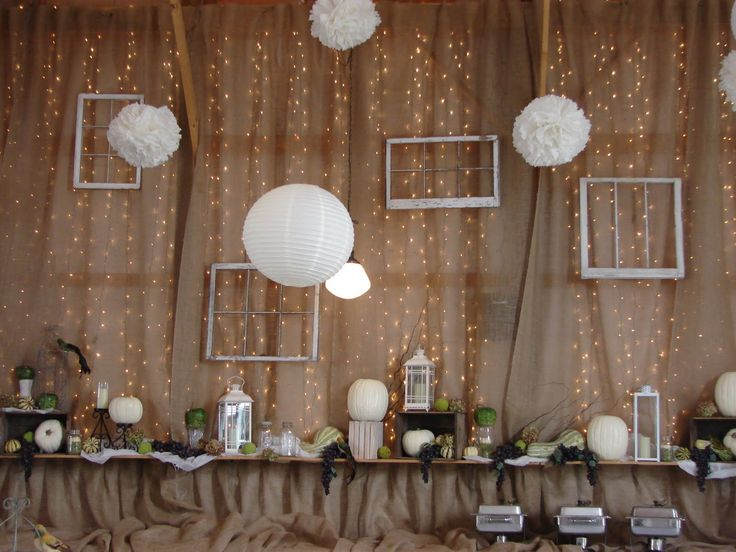 Love this. Burlap wall with lights behind, think this would be good for wedding ceremony.