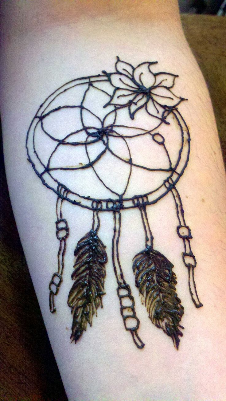 Dream Catcher Henna  This Is Shannon's Lower Arm This Is The Third Dream  Catcher