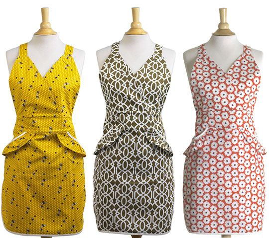 aprons from Elizabeth W from kitchn.com website.  I want them all!