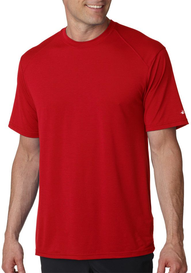 badger adult b-tech tee - red (m)