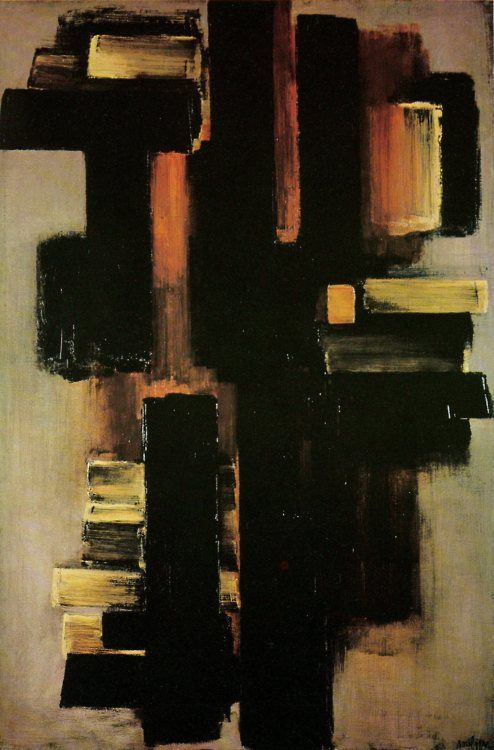 Pierre Soulages (French b. 1919) [Art Informel and Tachisme]
