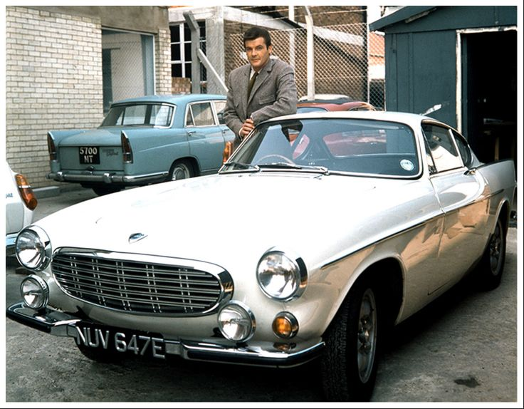 A white 1962 Volvo P1800, driven by Roger Moore as Simon Templar, alias The Saint. | My Favorite ...