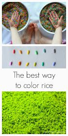 Fun at Home with Kids: The best way to color rice: a comparison of two methods