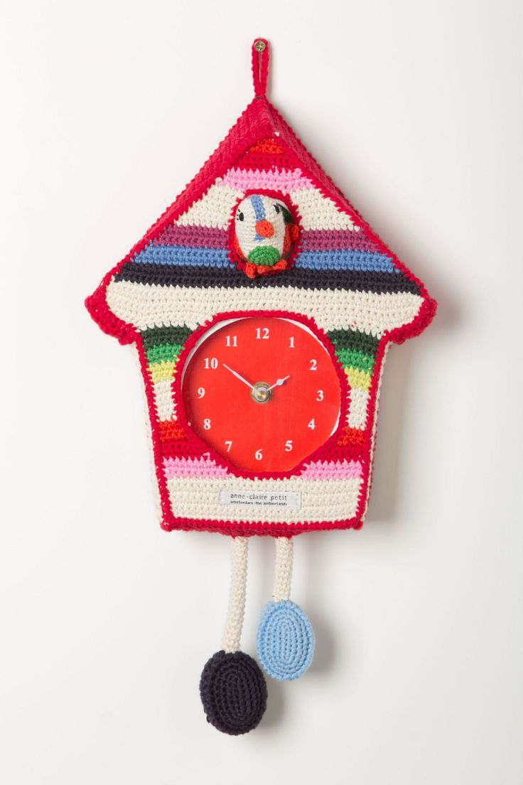 Hand-Crocheted Cuckoo Clock - Anthropologie.com