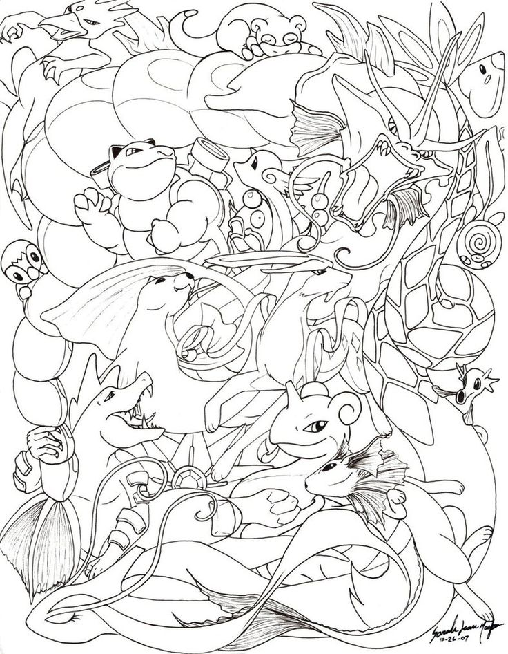 Oh Holy Mewthis Picture Is Insane Okay I Am The One Who But Allow Me First To List Off All Pokemon In This Drawing No Particul