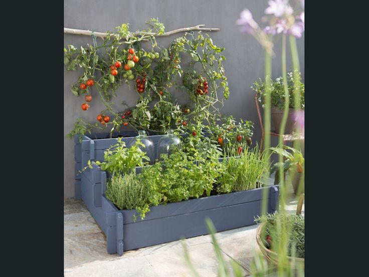 carre potager en escalier jardin edible garden garden beds et balcony garden. Black Bedroom Furniture Sets. Home Design Ideas