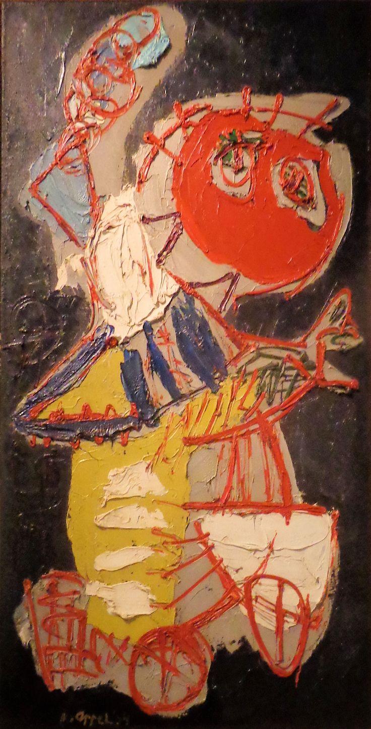 'Meisje op een fiets' door Karel Appel uit 1954.