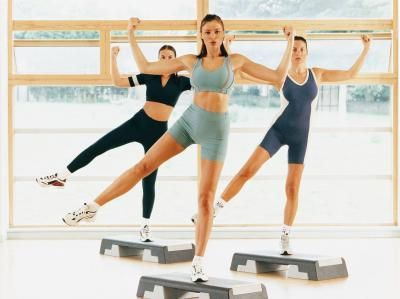 Step Aerobic Workouts are aerobic because they exert oxygen for a long period of time