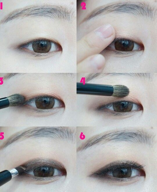 Single eyelid makeup